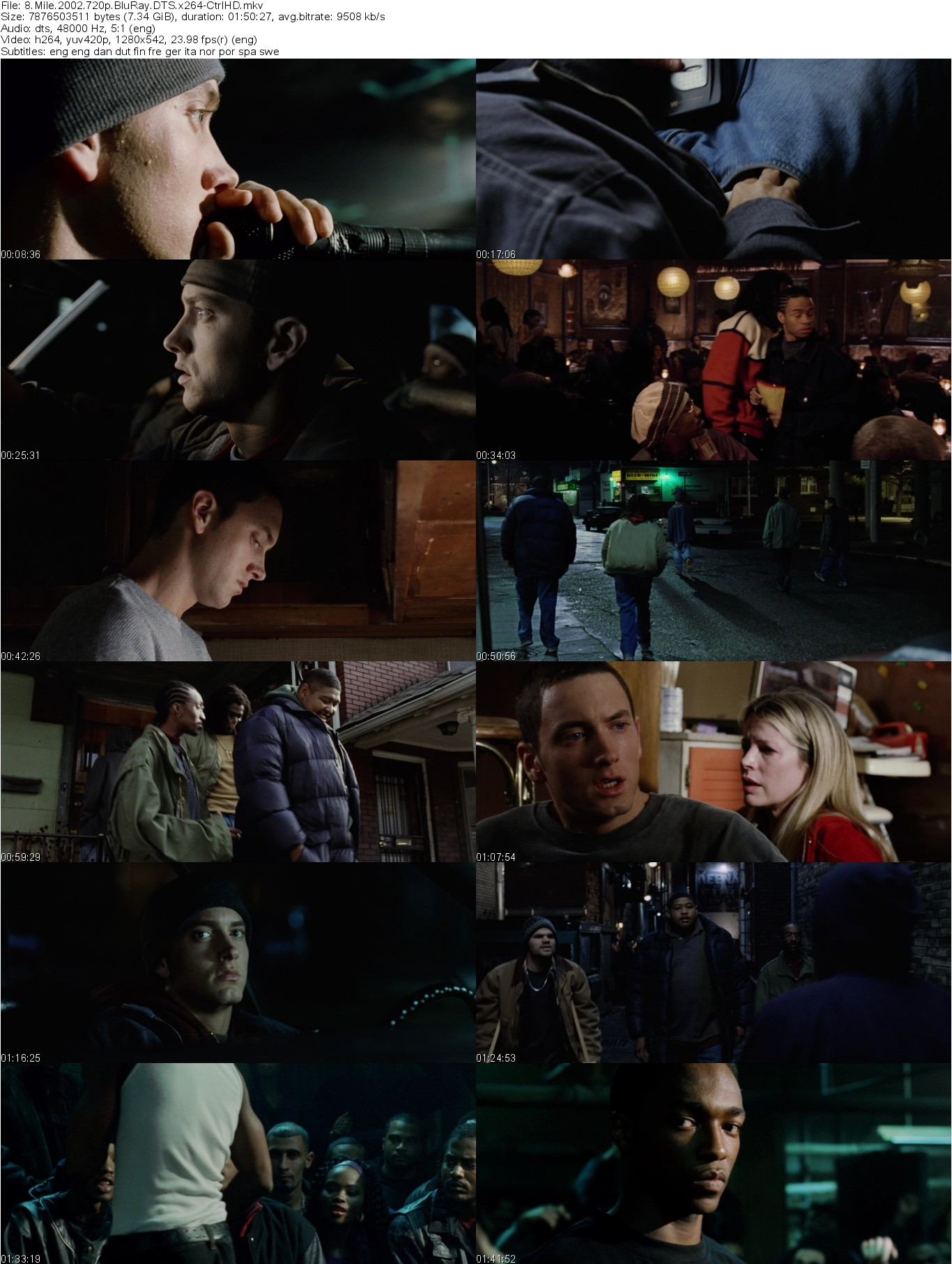 8 Mile 2002 720p Bluray Dts X264 Ctrlhd Releasehive