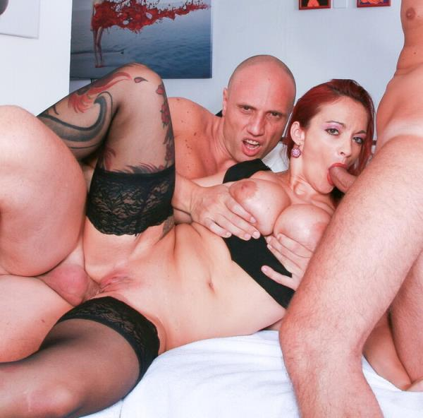 Busty Italian redhead amateur enjoys double anal in wild MMF threesome - Mary Rider [CastingAllaItaliana/PornDoePremium] (HD 720p)