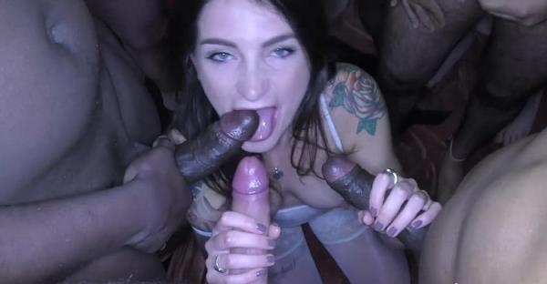 Adreena Winters, Phoenix Madina - Tattooed sluts bukkake with Adreena Winters [HD 720p] 2020