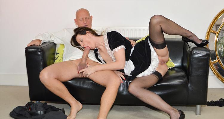 Lara Latex, Paul - French Maid Gets Fucked [LarasPlayGround/JimSlip] (HD|MP4|1.34 GB|2020)